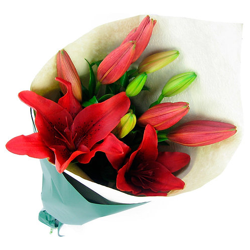 Red Lilly Arrangement