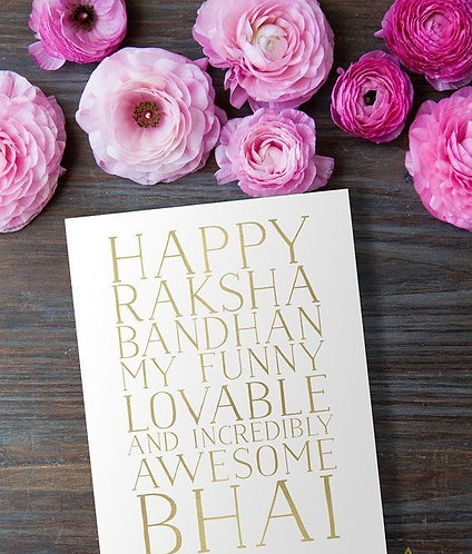 Happy Raksha Bandan card
