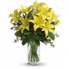 Yellow Lilly Arrangement