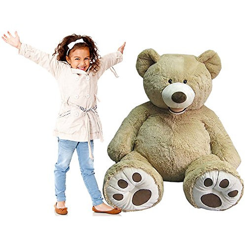 "Giant 53"" Luxury Plush Tan Teddy Bear"
