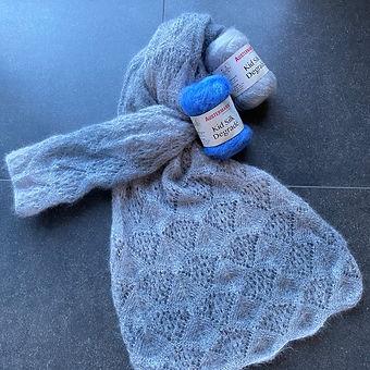 Sjaal in ajoursteek (Silk Dégradé)