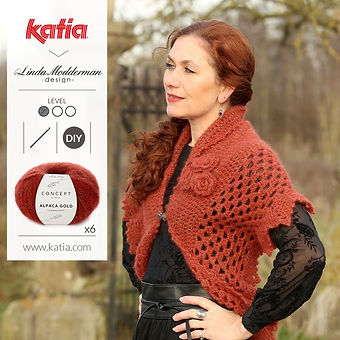 Winter Rose Wrap haakpatroon Katia
