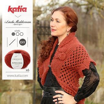 Winter Rose Wrap haakpatroon Katia