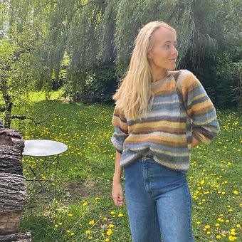 Ingenua Moda trui met raglanmouwen