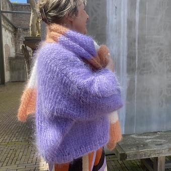 Mohair vest in T-model met vlindermouwen (one size)