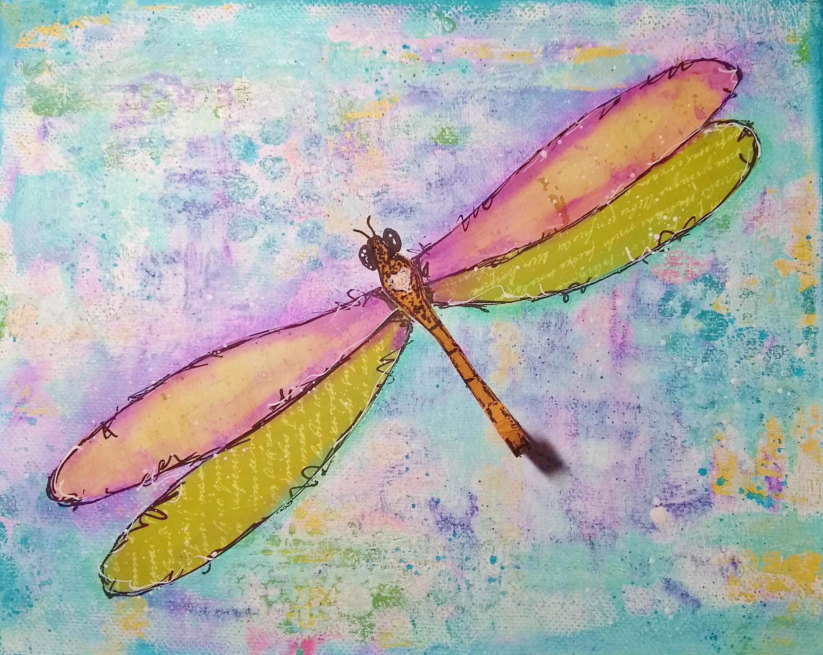 Mixed Media Dragonfly
