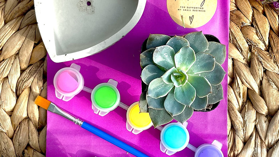 Beveled Heart Paint and Pot Kit