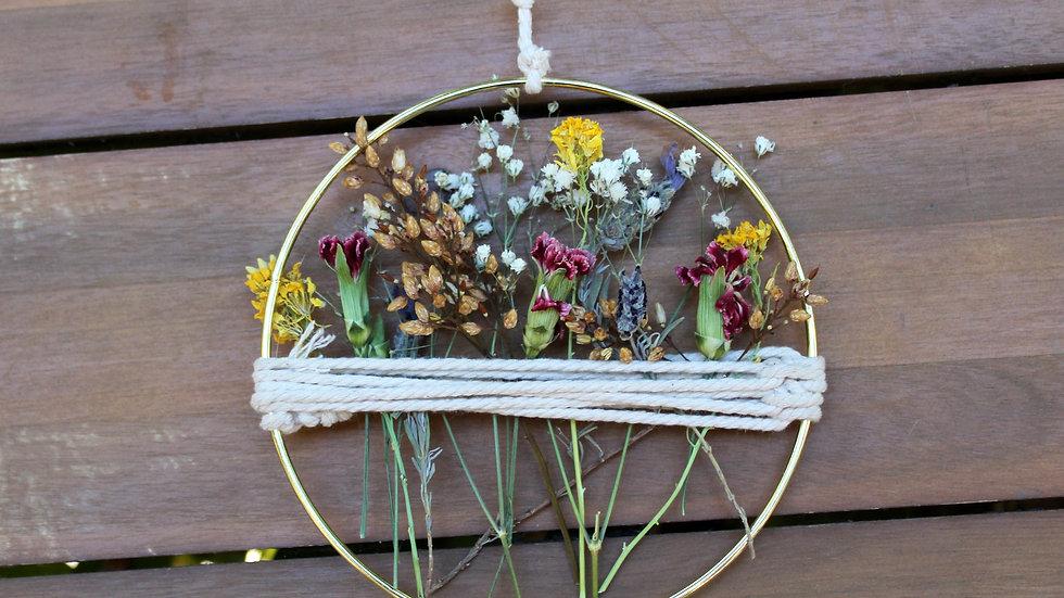 Dried Floral Hoop Art