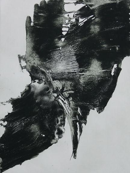 Valia Eydis,  Le Souffle, 2017, eau-forte, aquatinte au bitume. Édition limitée à 4 exemplaires. format de la plaque 100 x70