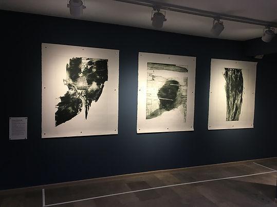 """Valia Eydis. Triptyque """"Souffle, Rêve, Ascention"""". Eau-forte, aquatinte au bitume, 2017. Collection permanente du Musée de Marina Tsvetaïeva à Moscou"""