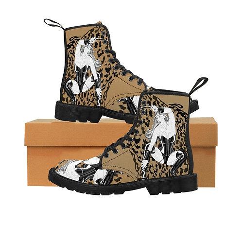 Phoenix the Jaguar Men's Canvas Boots - tan