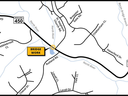 Defense Highway bridge work to begin next Tuesday, January 19 near Arundel Ridge