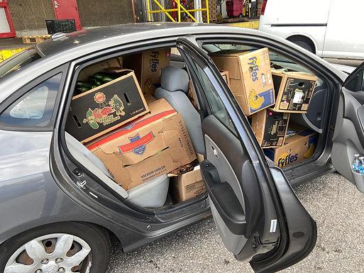 """Clown car"" offers food & hope"