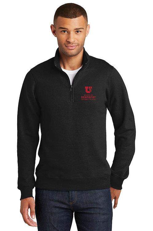UUSOD Unisex 1/4 Zip Pullover Sweater- Black