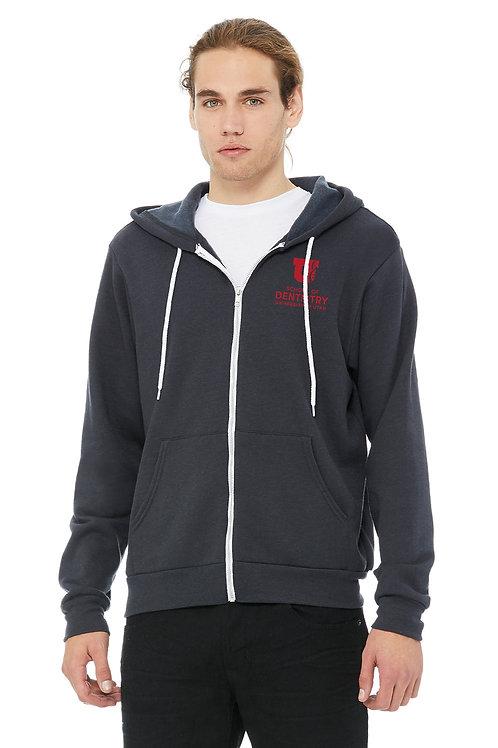UUSOD Unisex Full-Zip Hoodie- Dark Grey