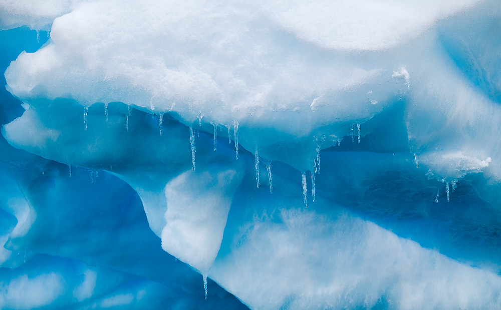 icicles hanging off an iceberg