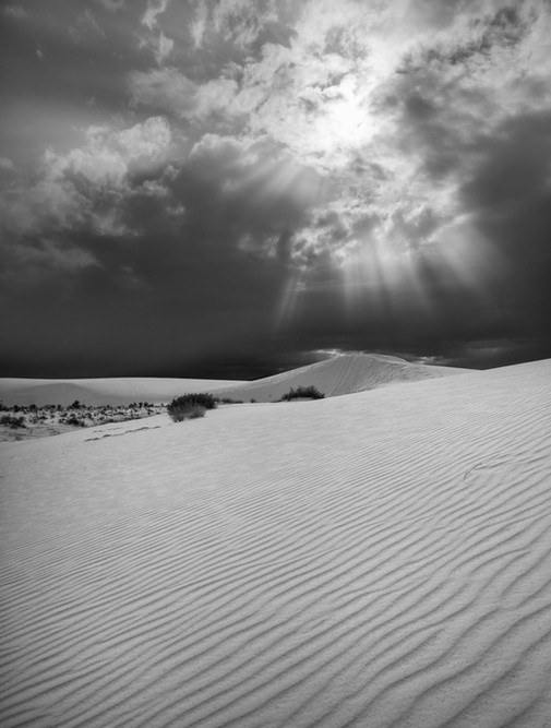 Storm and White Sand