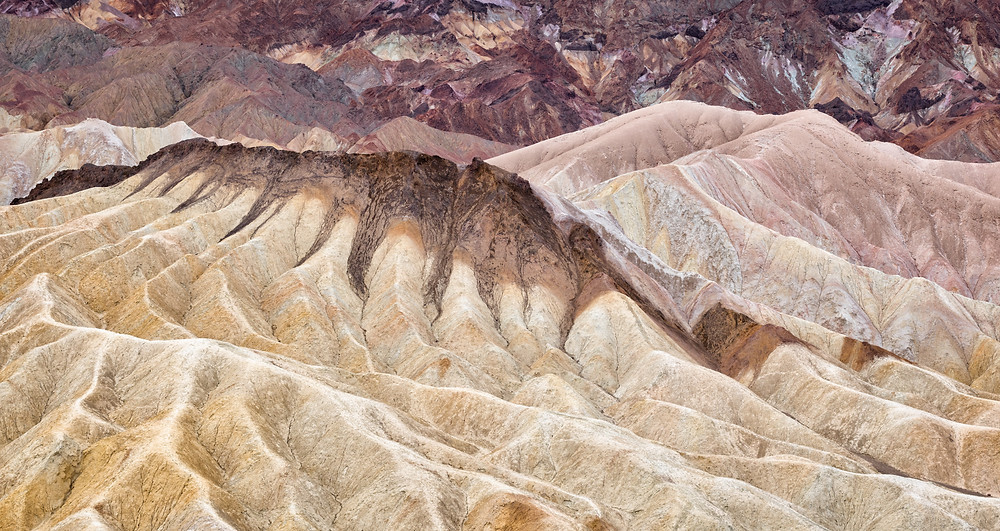 colored ridges of zabrieski point