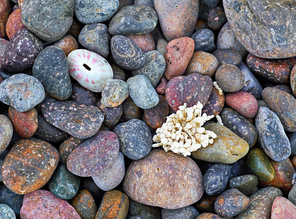 colored rocks and pebbles