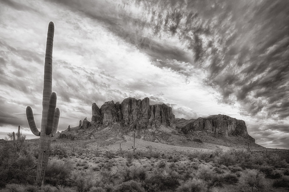 Dramatic Clouds over Superstitions