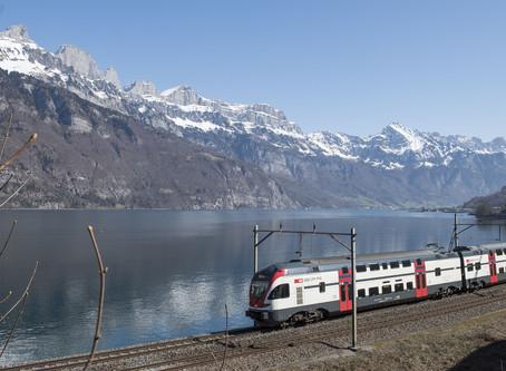 Lisa e i treni svizzeri