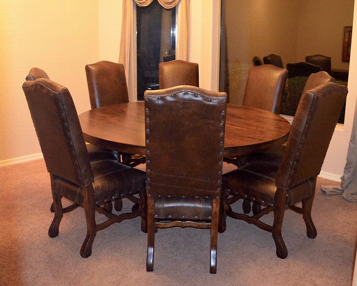 5' Round Alder Dining Table