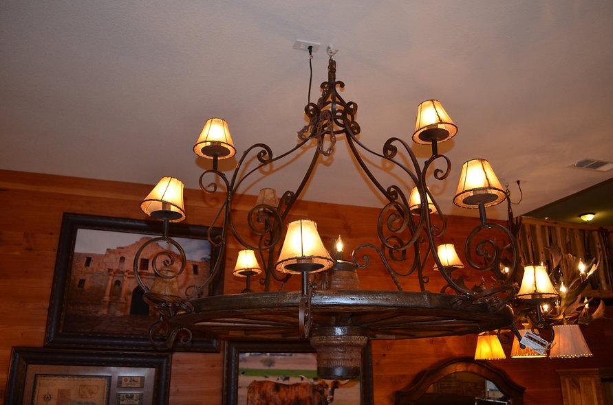 Rustic Iron Work Chandelier