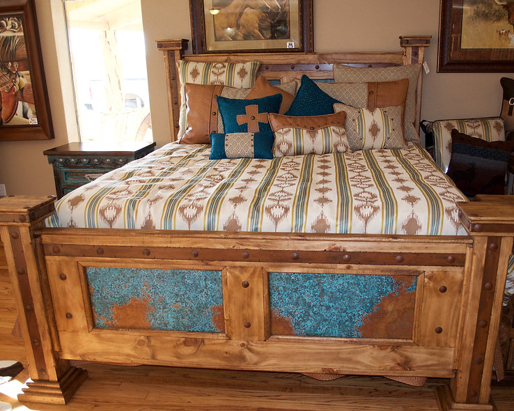 King Turquoise Copper Bed