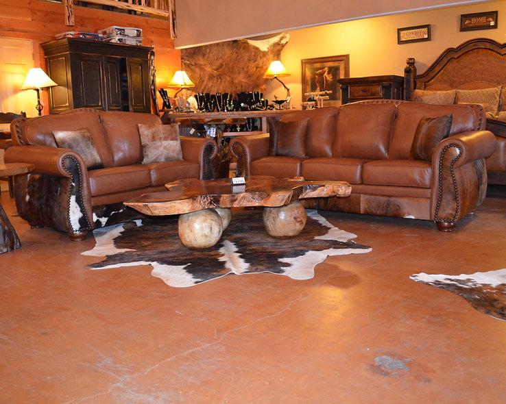 Genuine Leather Sofa Set