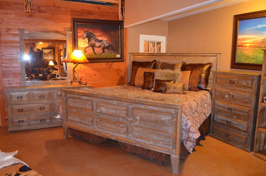Grey Pine Bedroom Set