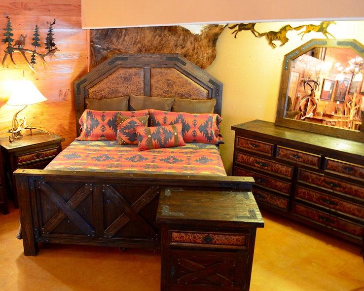 King Alder Barn Wood Bed