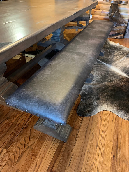 7' Genuine Leather Bench