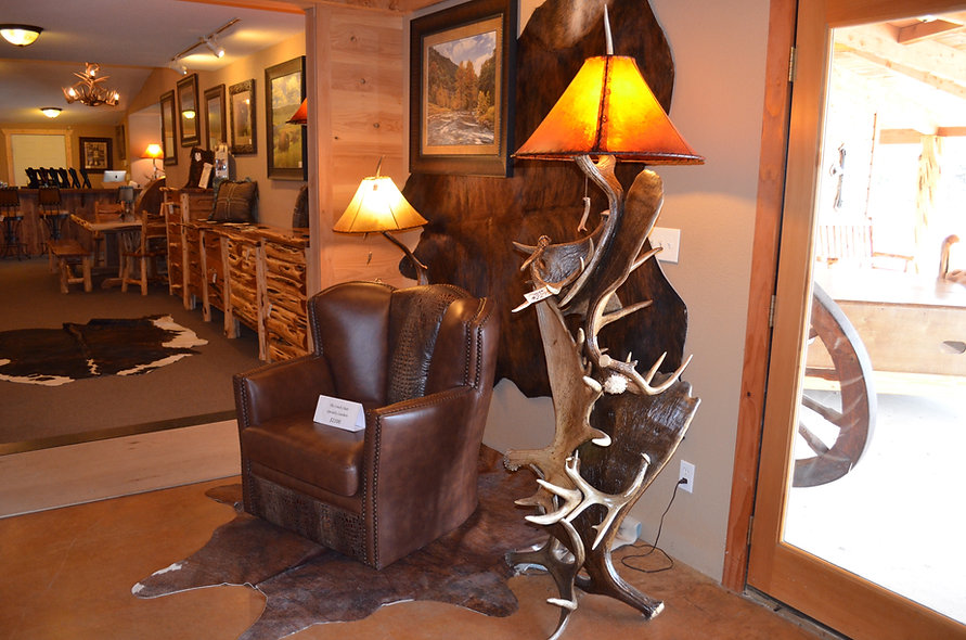 Genuine Moose Antler Lamp