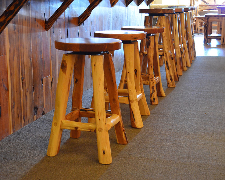 Cedar Swivel Bar Stool