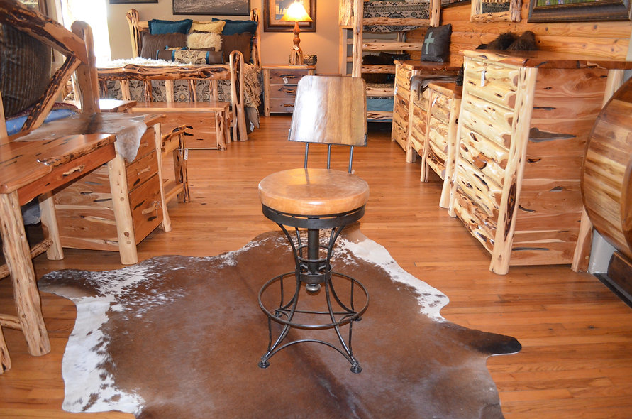 "30"" Whiskey Barrel Back Bar Stools"