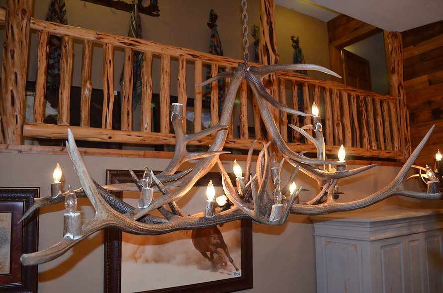 Genuine Antler Chandelier