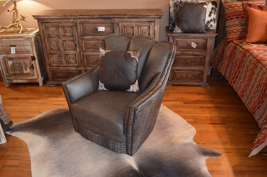 Genuine Leather Conch Chair