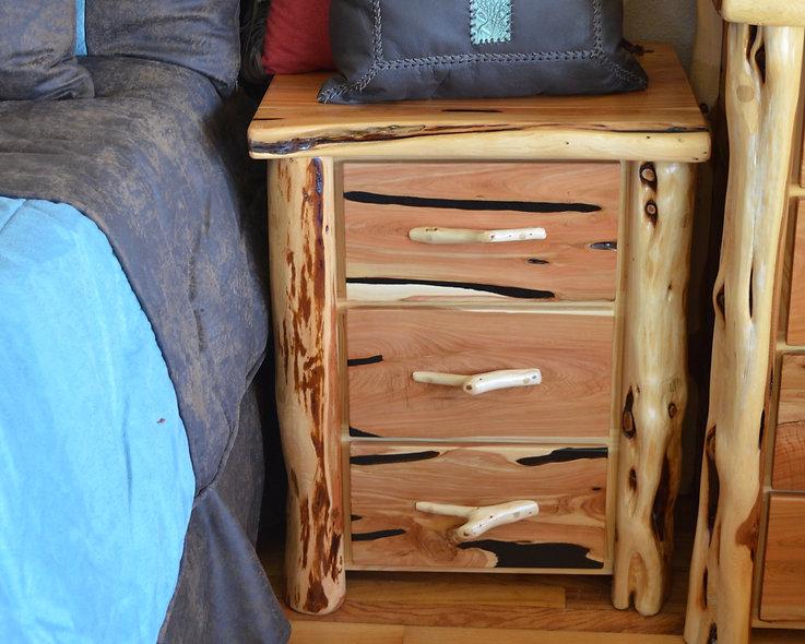 Cedar 3 Drawer Nightstand