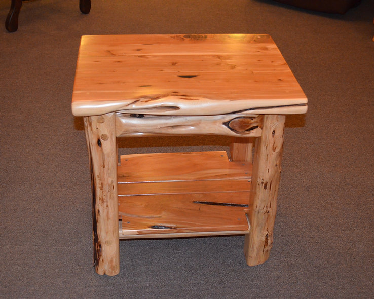 "24"" Cedar End Table"