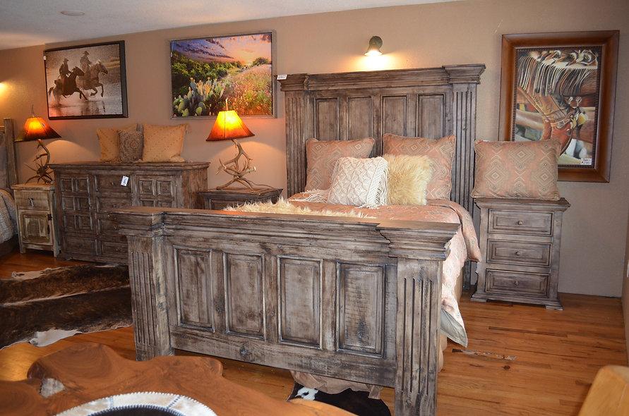 Queen Rustic Pine Bed
