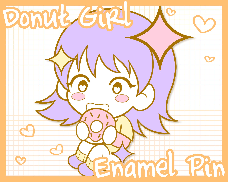 Anime Girl Enamel Pin