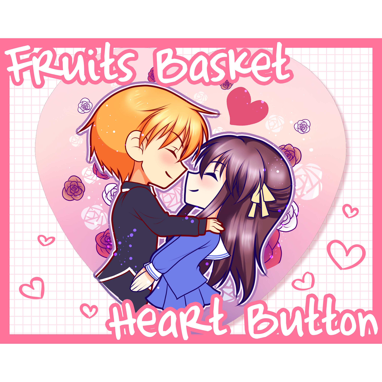 Fruits Basket Heart Button