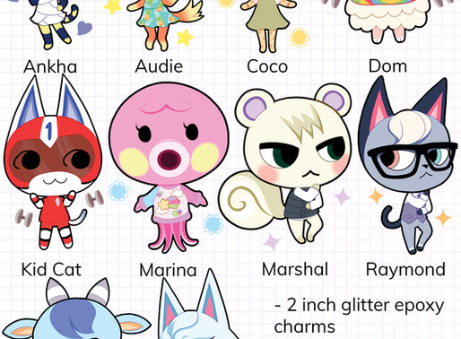 ACNH Charms Now Up For Preorder!
