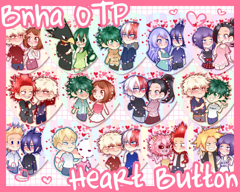 BNHA OTP Heart Buttons