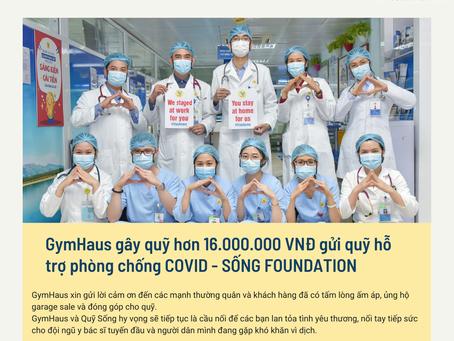 GymHaus gây quỹ hơn 16 triệu đồng gửi quỹ hỗ trợ Covid