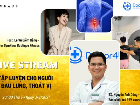 [Live stream] Tập luyện cho người đau lưng, thoát vị - GymHaus