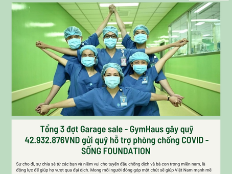 GymHaus và hội viên - Quyên góp hỗ trợ mua thực phẩm & thiết bị y tế cho vùng dịch