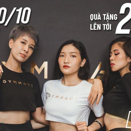 Ưu đãi 20/10 - Chào mừng ngày phụ nữ Việt Nam với GymHaus
