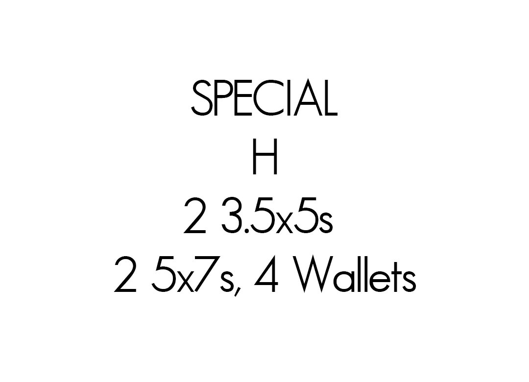 H Special  $39.99 + tax and service