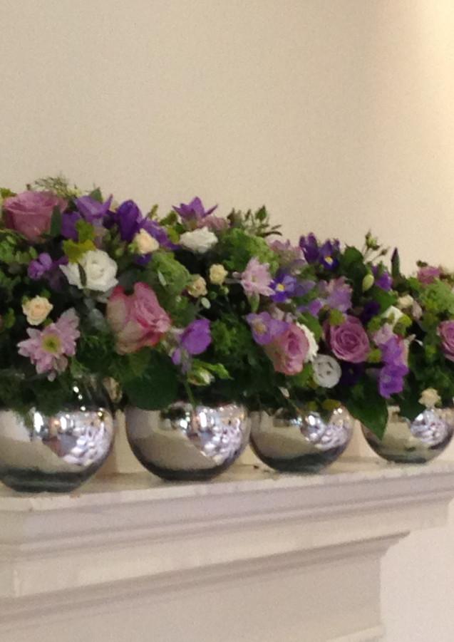 Purple and lilac wedding flowers theme